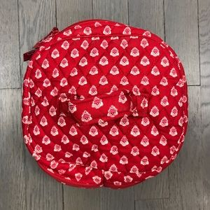Vera Bradley Bags - Vera Bradley Quilted Red Print Makeup Travel Case